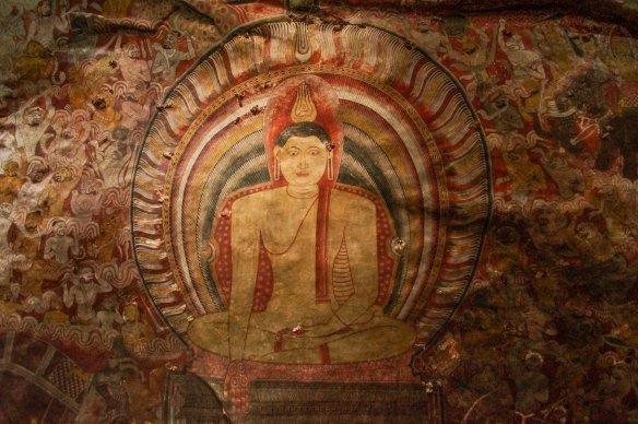 Dambulla Cave 3 mural