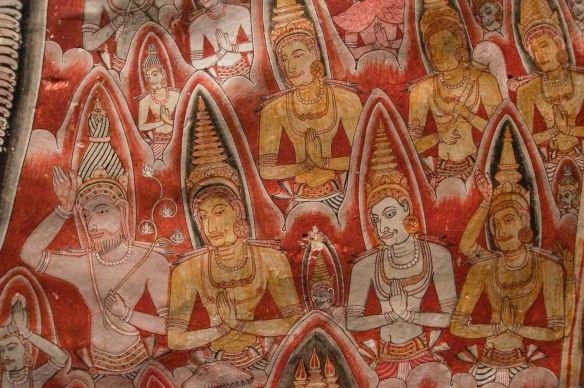 Dambulla Cave 3 mural figures