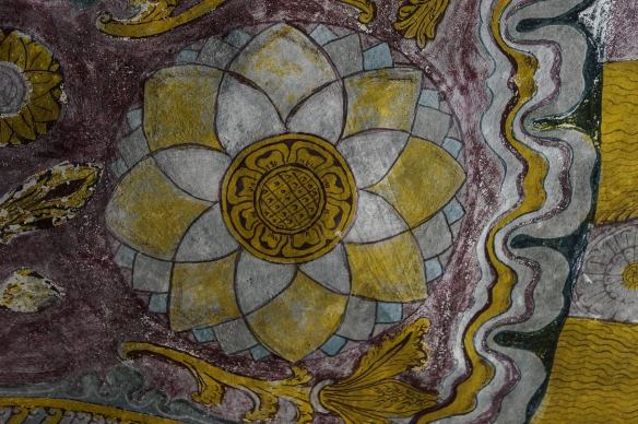 Dambulla Cave 5 painted detail