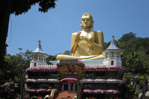 Dambulla Golden Temple front shot
