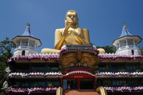 Dambulla's Golden Temple up closer