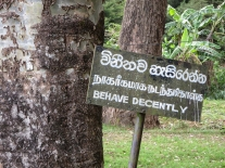 Nuwara Eliya park sign