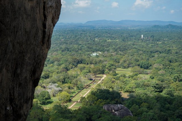 looking down on the western precinct of the inner city of Sigiriya