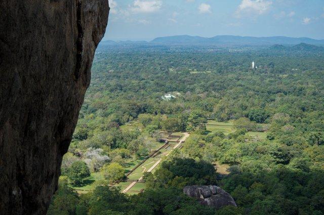 looking down on the western precinct of the inner city of Sigiriya