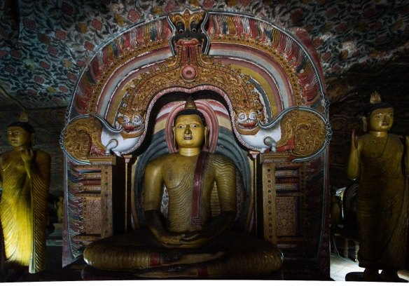 meditating Buddha under arch