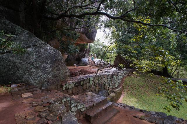 pathway through the boulders