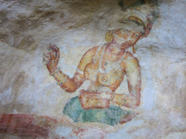 Sigiriya fresco - some damage