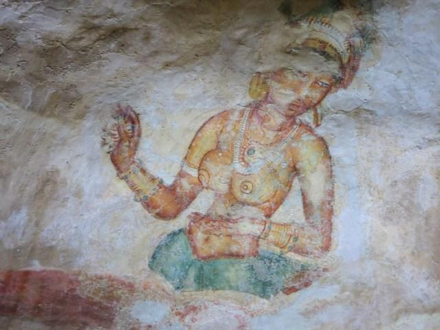 Sigiriya fresco - some damage