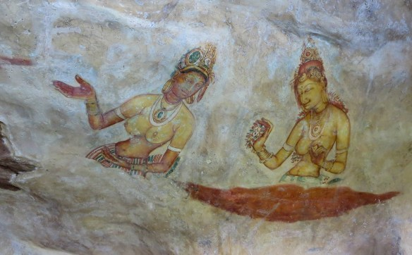 sigiriya lady and attendant