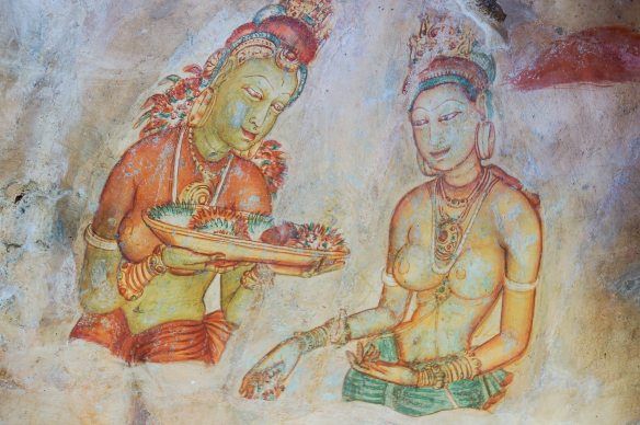 sigiriya lady and flower girl 2