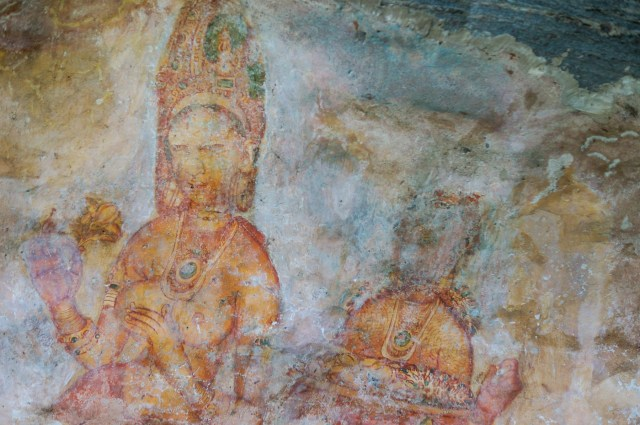 Sigiriya lady and flower girl