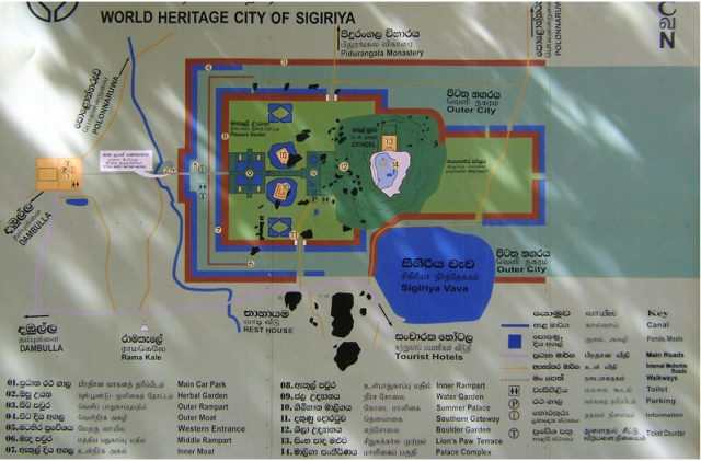 Map of Sigiriya