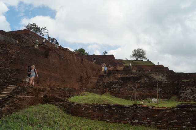 Sigiriya summit ruins- more foundations and staircases
