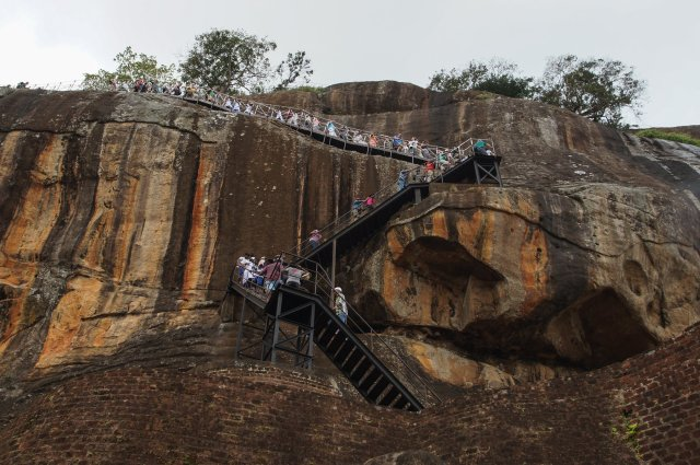 Sigiriya the final stretch of staircase to the top