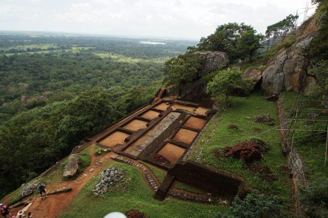 terrace below the Lion's Paws plateau