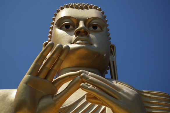 The Buddha statue up close