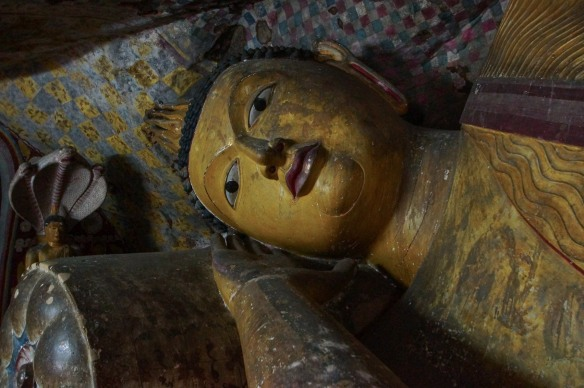 the head of the reclining Buddha figure