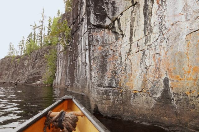 looking for ochre on Wabakimi'sCliff Lake