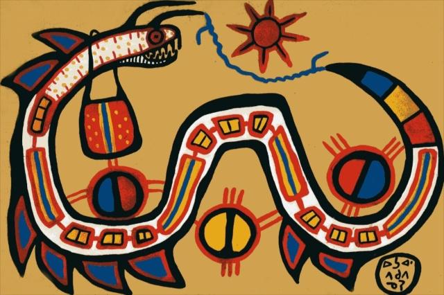 Morrisseau Sacred Medicine Snake (1961)