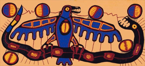 Morrisseau. 1965. Thunderbird with Serpent
