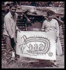 Norval and Harriet with Serpent Legend