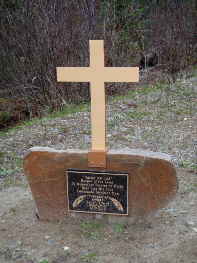 Witchwood logging road gravesite marker