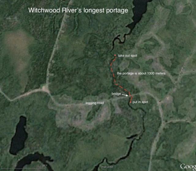 Witchwood River - logging road portage