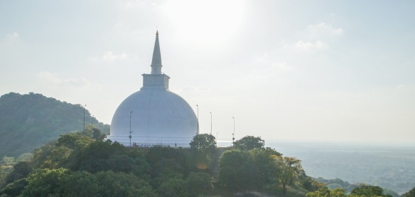 a view of the Maha Stupa from Aradhana Gala