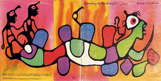 Morrisseau's painting for a late 1970's Bruce Cockburn album