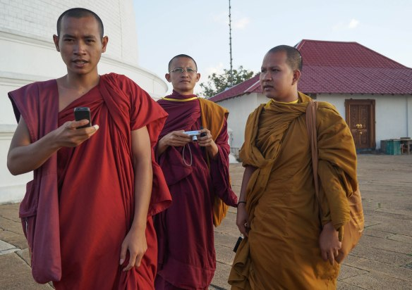 monks in charge of pilgrims