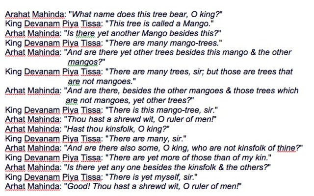 The Cryptic Conversation about Mangoes!