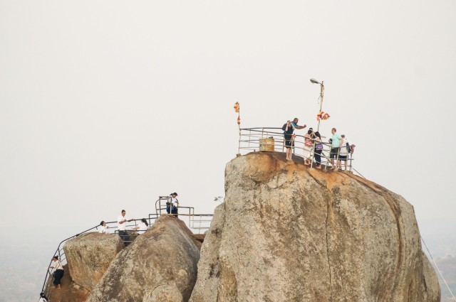 visitors at the top of Aradhana Gala