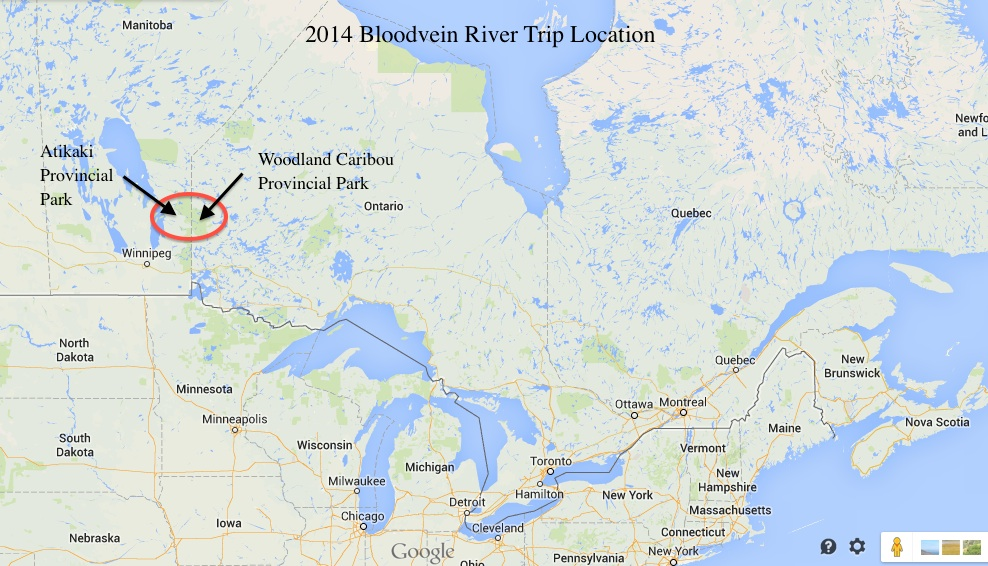 Canoeing The Bloodvein River System Introduction Maps - River system map