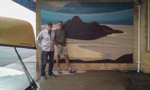 Marathon, ON - Lawren Harris Painting redone on the Pizza Hut wall