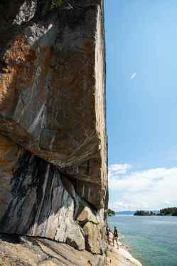 Agawa Rock on a calm day