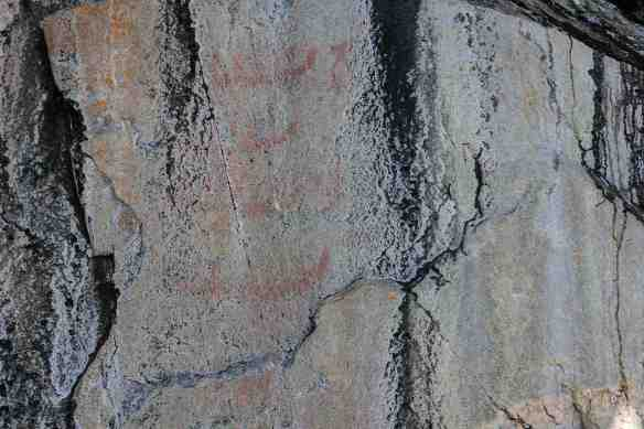 """Agawa Rock Panel 3 - """"The Wolf's War Party"""" Paintings"""