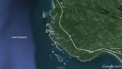 Agawa Rock Access Road Map