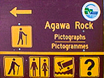 agawa rock sign