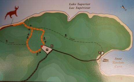 Agawa Rock Trails Map