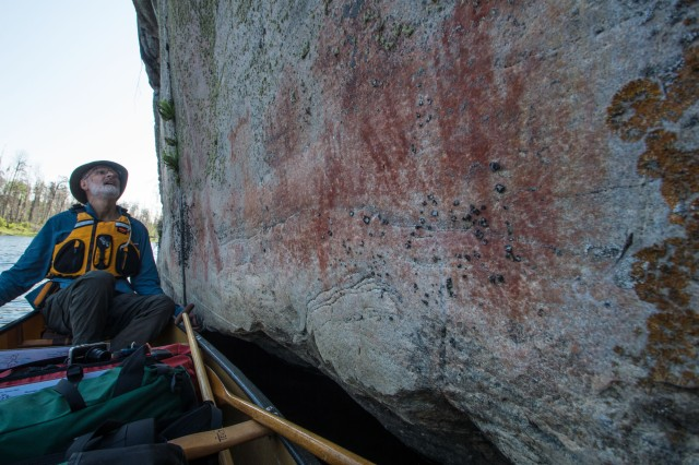 max scans the rock face east of Larus on the Bloodvein