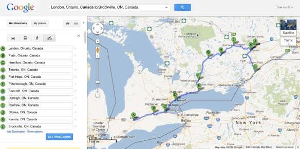 Ontario tour - south west to east