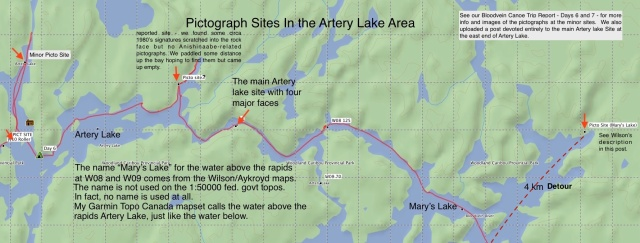 reported-pictograph-sites-on-artery-lake-and-marys-lake