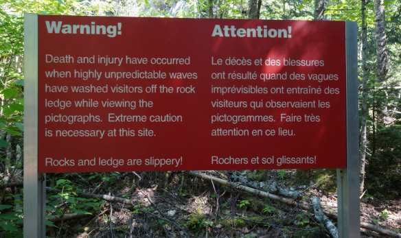 Warning Sign - one of two to empahsize the dangers