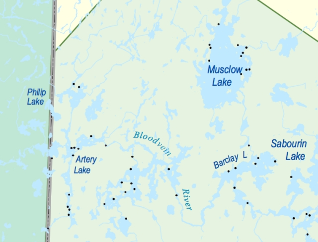 WCPP established campsites near Artery lake