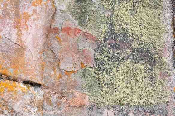 Artery Lake Pictograph Site - Face I ochre smudge