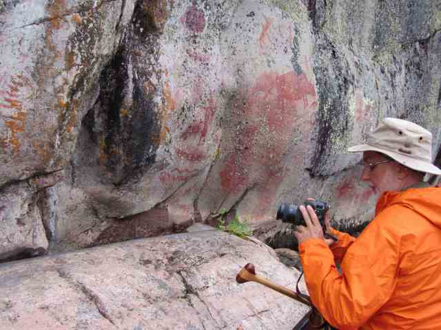 Artery Lake Pictograph Site - Face III overview