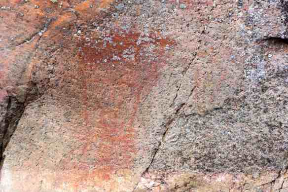 Artery Lake Pictograph Site - Face IV detail below bison