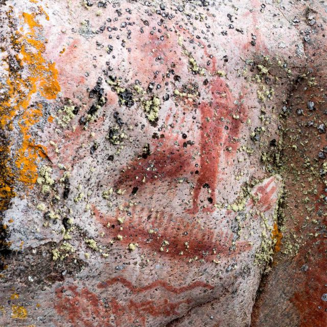 Artery Lake Pictograph Site- Face IV Shaman figure