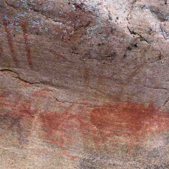 Artery Lake Pictograph Site- more detail from collection of images Beyond Face IV