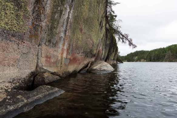 Artery Lake Pictographs - looking south to Face II
